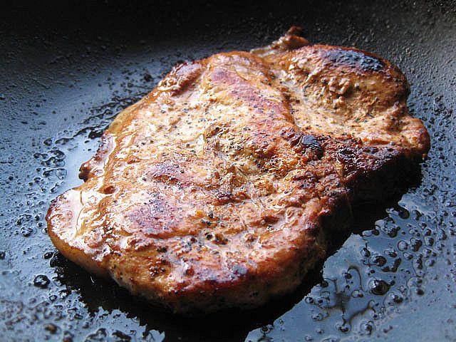 Cast Iron Skillet Pork Chops  Cast Iron cooking Pan grilled Pork Chops