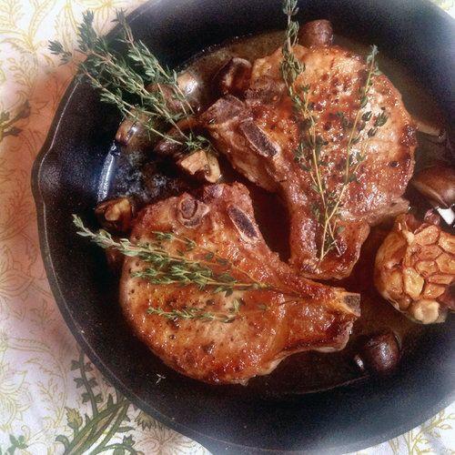 Cast Iron Skillet Pork Chops  Cast Iron Roasted Pork Chops