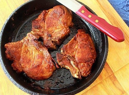 Cast Iron Skillet Pork Chops  Skillet Roasted Pork Chops Syrup and Biscuits