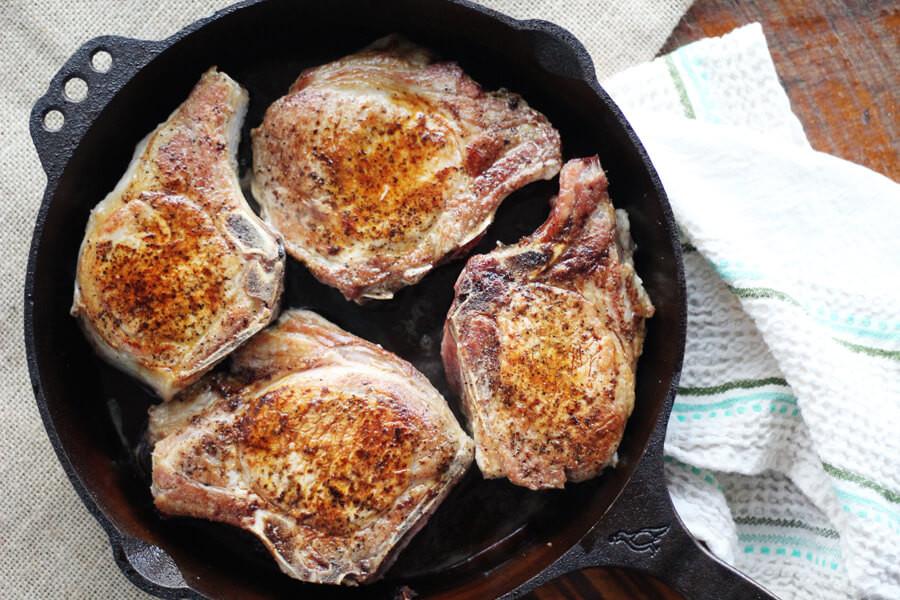 Cast Iron Skillet Pork Chops  Pepper Jelly Skillet Pork Chops