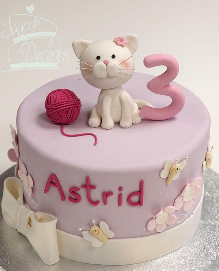Cat Birthday Cake  Best 25 Kitty cake ideas on Pinterest