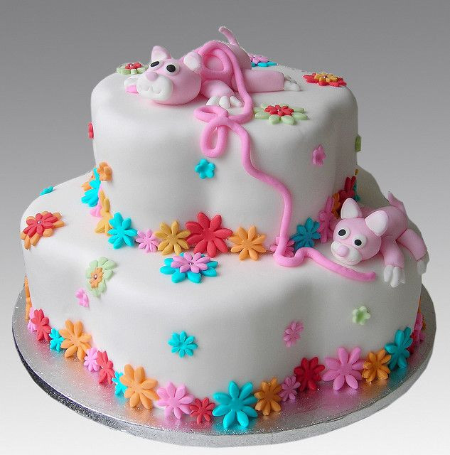 Cat Birthday Cake  37 best images about Kitty cat cakes on Pinterest