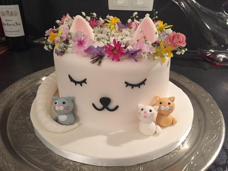 Cat Birthday Cake  Best 25 Cat cakes ideas on Pinterest