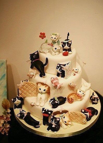 Cat Birthday Cake  35 best Cats Cakes images on Pinterest