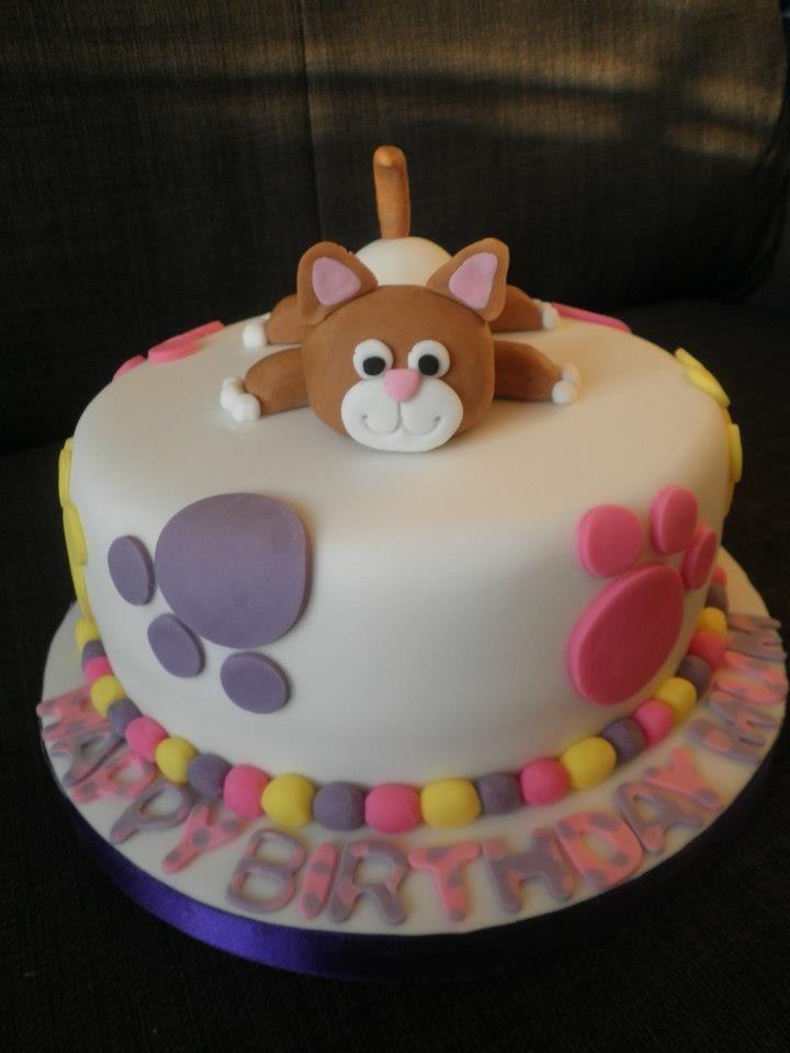 Cat Birthday Cake  Cat themed birthday cake