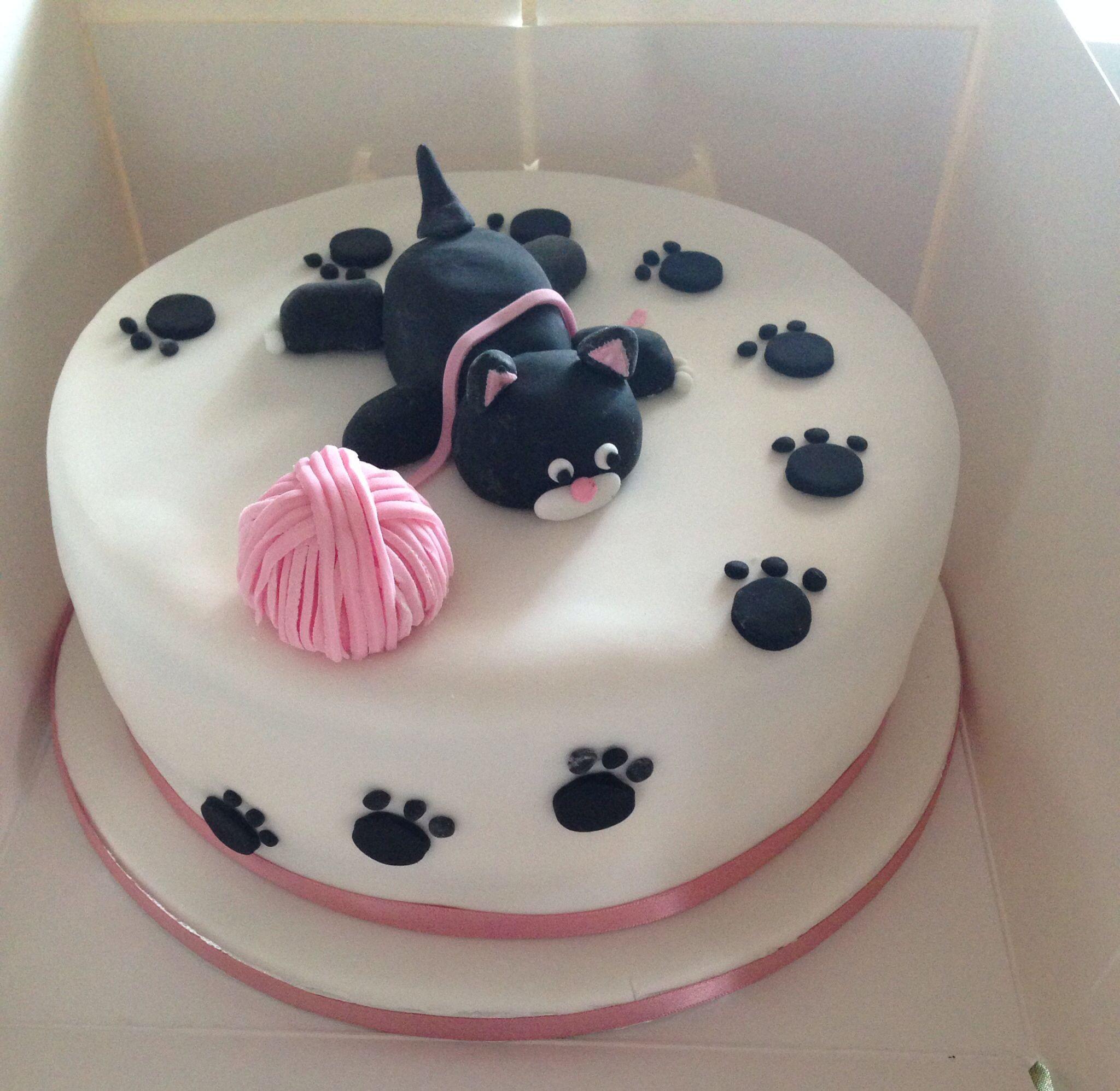 Cat Birthday Cake  Belated Cat Birthday Cake Σχέδια για τούρτες