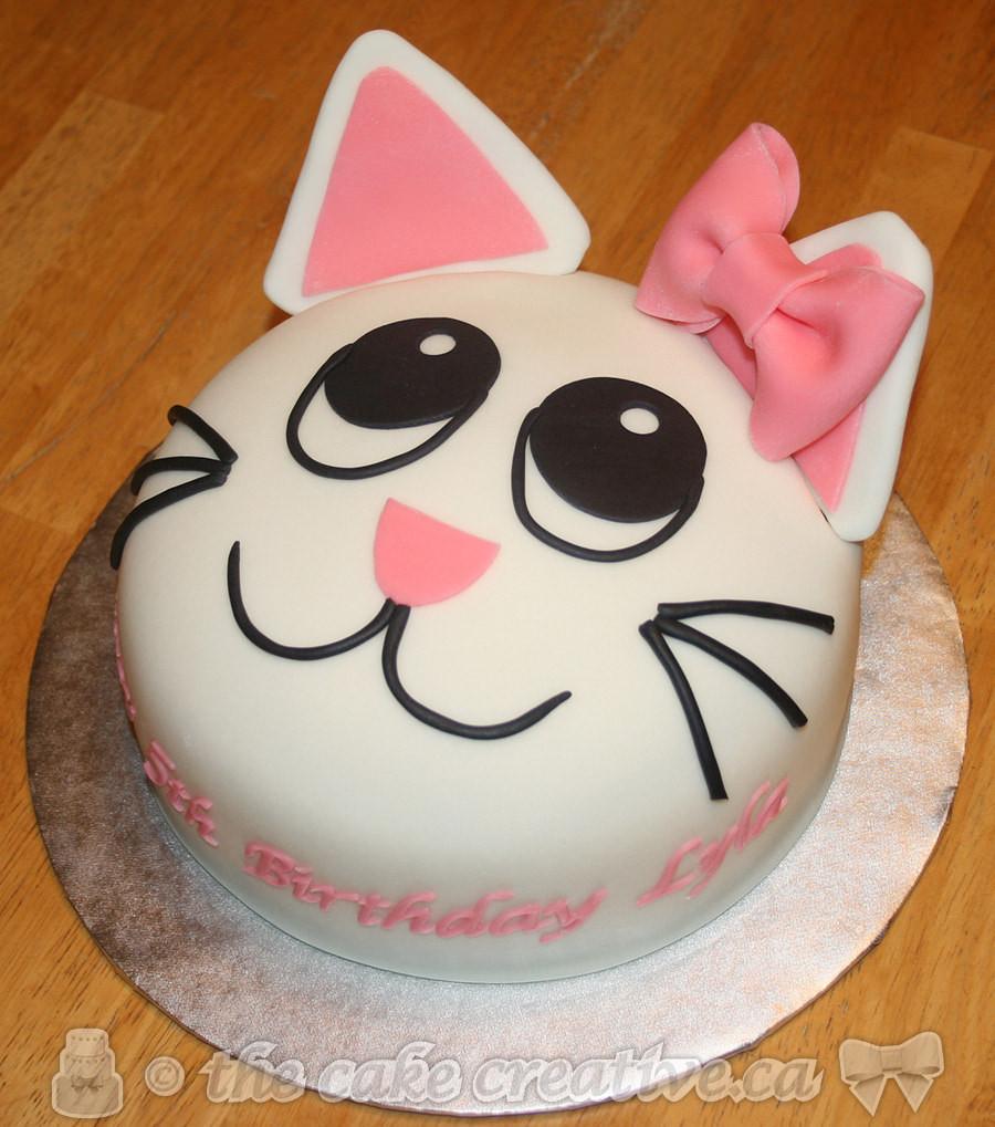 Cat Birthday Cake  Kitty Cat Birthday Cake