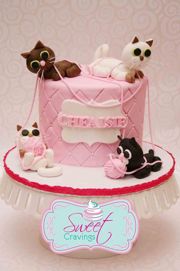 Cat Birthday Cake  Best 25 Fondant cat ideas on Pinterest