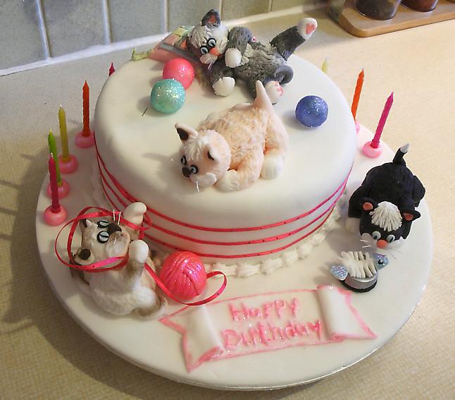 Cat Birthday Cake  Crazy Cat Lady Cakes – Janet Carr