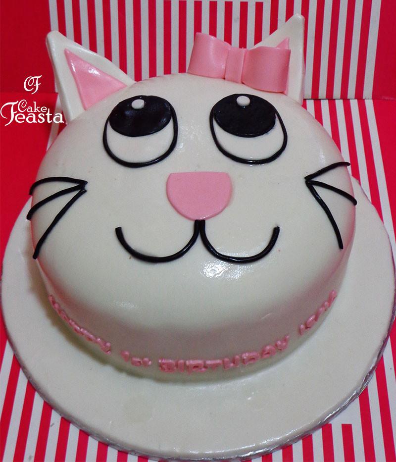 Cat Birthday Cake  Cat Girl Birthday Cake Customized Cakes in Lahore Free