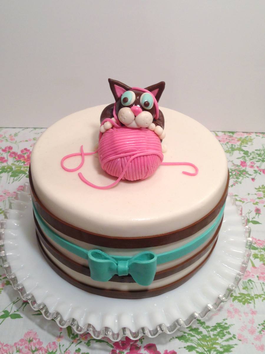 Cat Birthday Cake  Kitten Birthday Cake CakeCentral