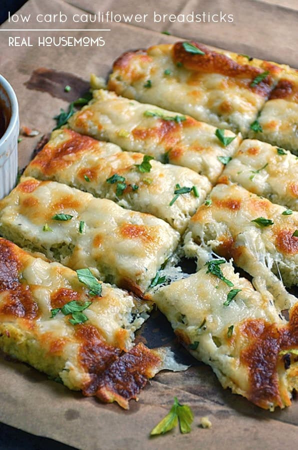 Cauliflower Bread Recipe  Low Carb Cauliflower Breadsticks Low Carb Recipes VIDEO