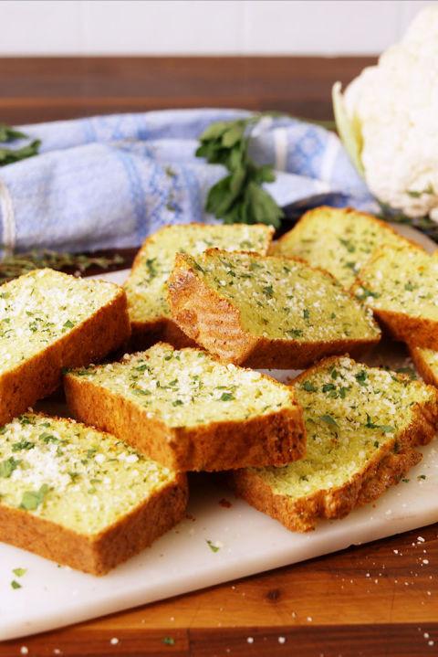 Cauliflower Bread Recipe  Best Cauliflower Garlic Bread Recipe How to Make
