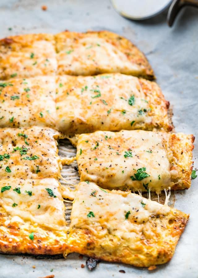 Cauliflower Bread Recipe  Cheesy Cauliflower Breadsticks Jo Cooks