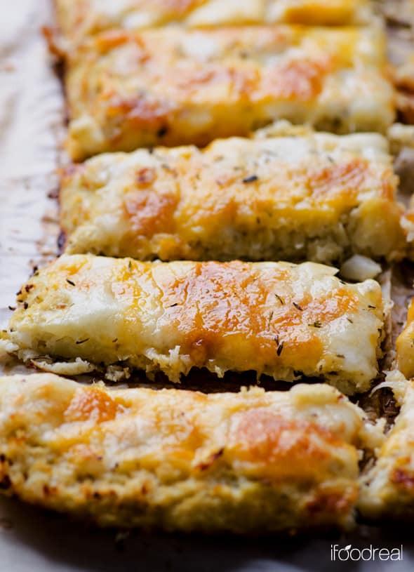 Cauliflower Bread Recipe  Cauliflower Breadsticks iFOODreal