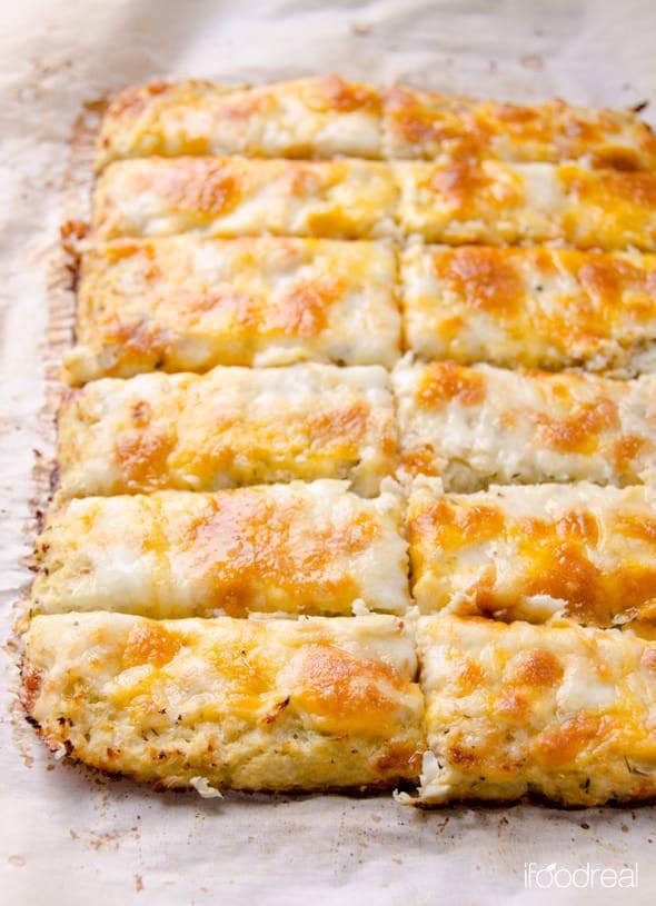 Cauliflower Bread Recipe  Cauliflower Breadsticks iFOODreal Healthy Family Recipes