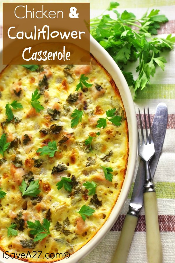 Cauliflower Casserole Keto  Ketogenic Recipes For Picky Eaters
