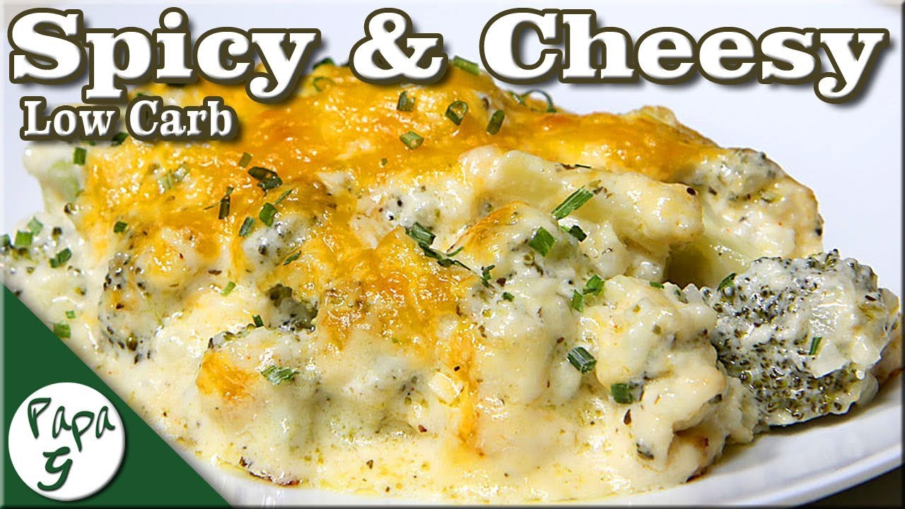 Cauliflower Casserole Keto  Spicy – Cheesy Broccoli and Riced Cauliflower – Low Carb