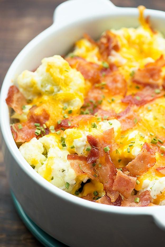 Cauliflower Casserole Keto  Loaded Cauliflower Bake — Buns In My Oven