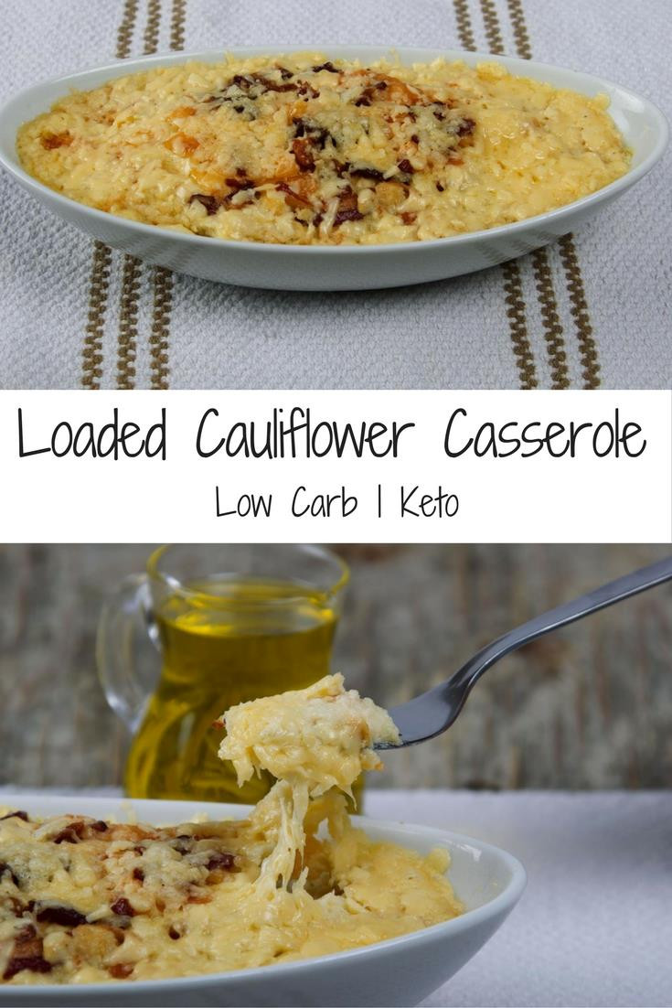 Cauliflower Casserole Keto  loaded cauliflower keto