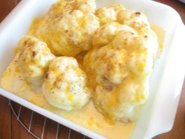Cauliflower Cheese Sauce  Cauliflower In Cheese Sauce Recipe Food