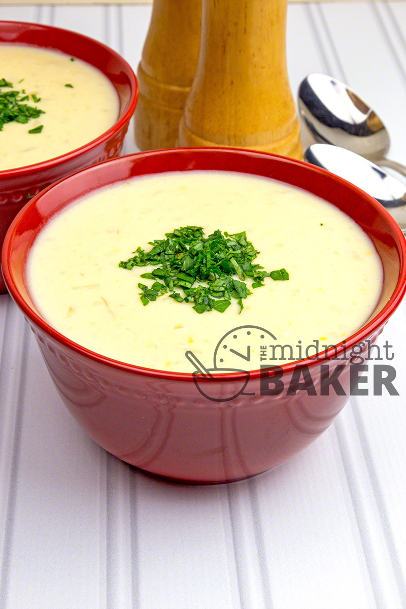 Cauliflower Cheese Soup  Cream of Cauliflower Cheese Soup The Midnight Baker