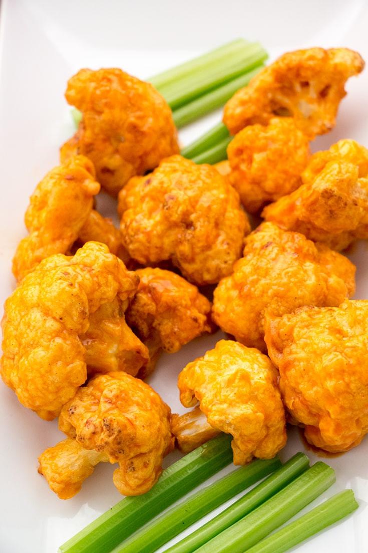 Cauliflower Chicken Wings  Air Fryer Cauliflower Wings Spicy & Sweet The Foo Eats
