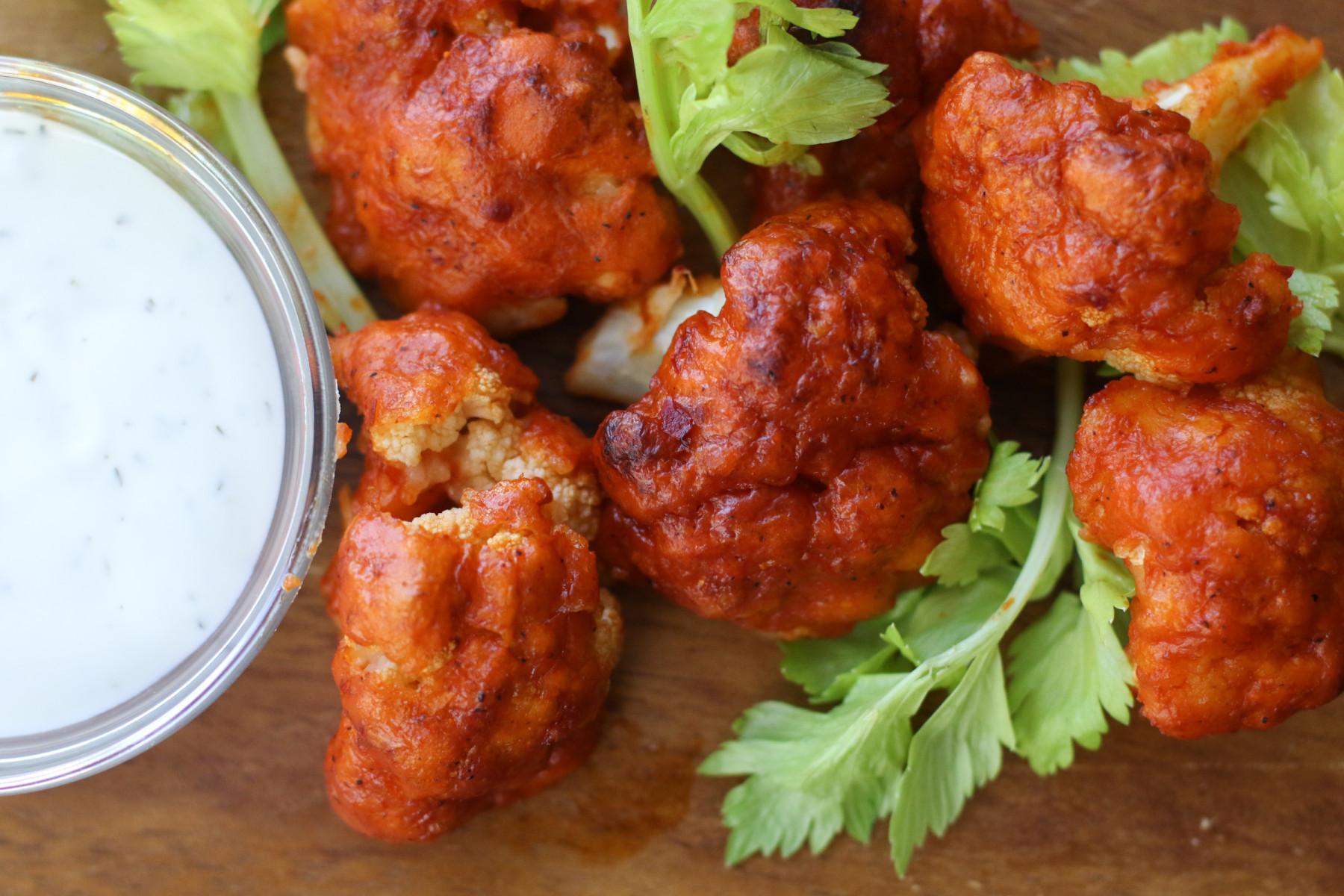 Cauliflower Chicken Wings  alex thomopoulos Crispy Gluten Free Cauliflower Buffalo