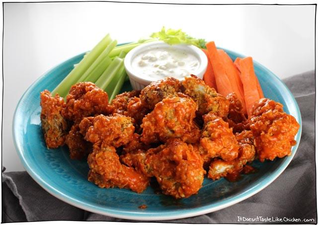 Cauliflower Chicken Wings  Crispy Buffalo Cauliflower • it doesn t taste like chicken