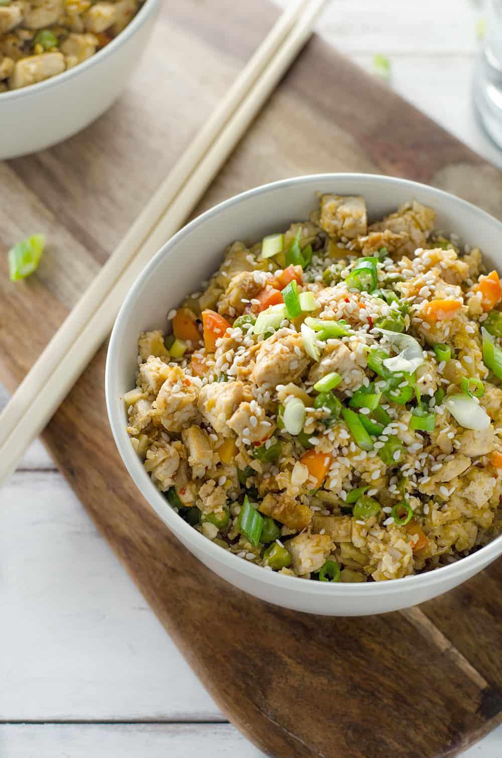 Cauliflower Fried Rice  Easy Vegan Cauliflower Fried Rice Delish Knowledge