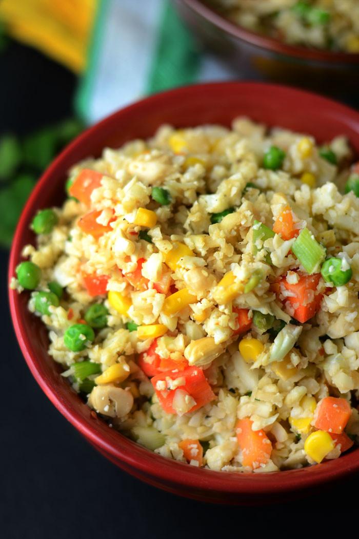 Cauliflower Fried Rice  Healthy Vegan Cauliflower Fried Rice