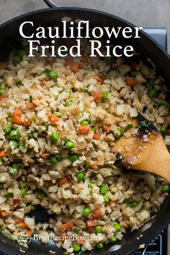 Cauliflower Fried Rice  Cauliflower Fried Rice Recipe