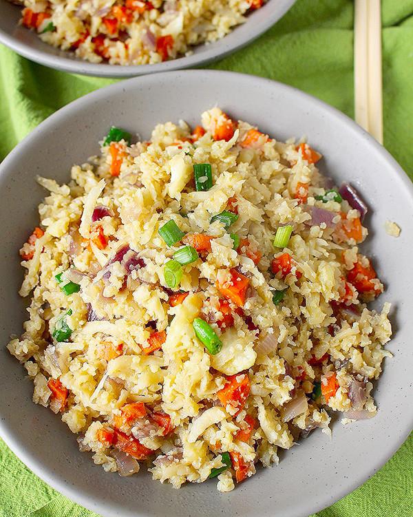Cauliflower Fried Rice  Paleo Cauliflower Fried Rice Jay s Baking Me Crazy