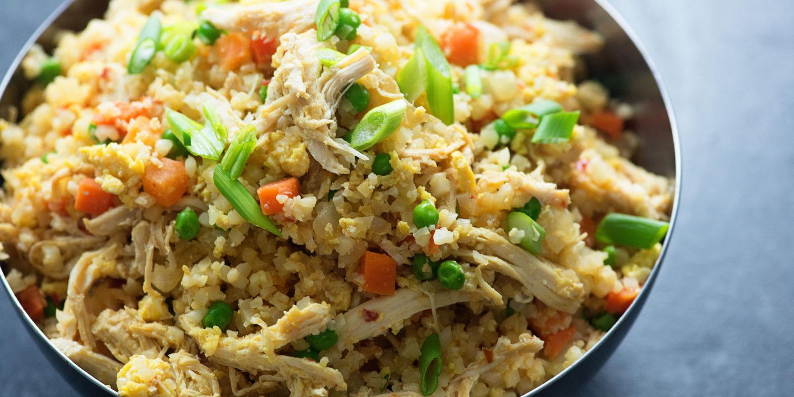 Cauliflower Fried Rice With Chicken  Best Chicken Fried Cauliflower Rice Recipe How To Make