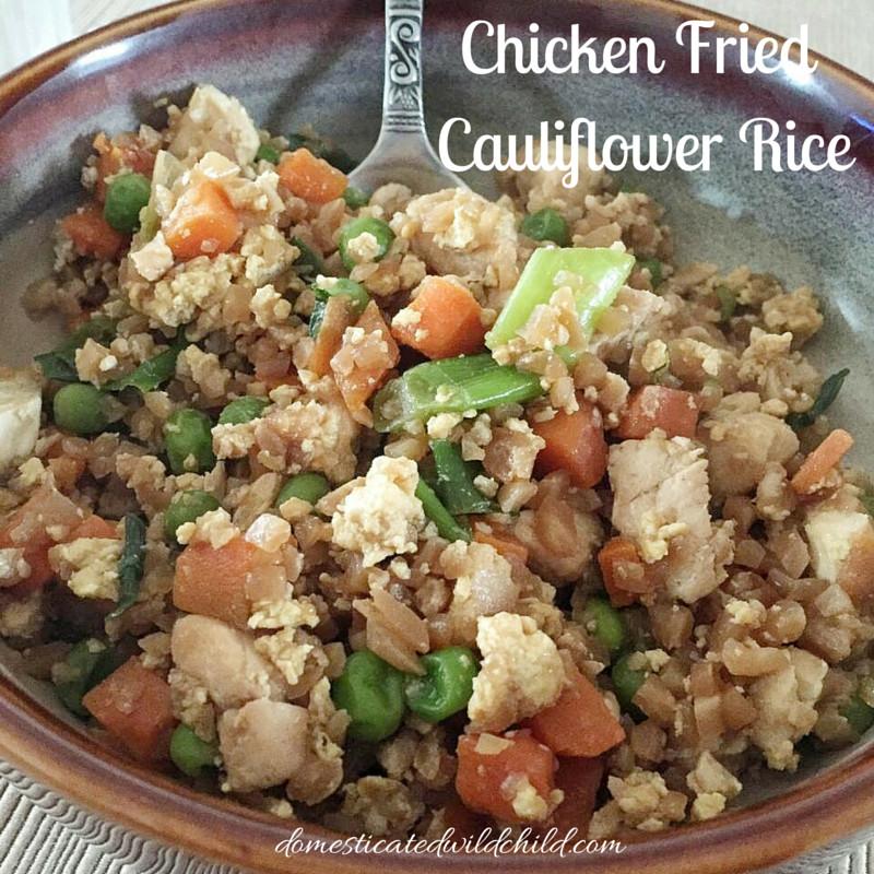 Cauliflower Fried Rice With Chicken  Chicken Fried Cauliflower Rice Domesticated Wild Child
