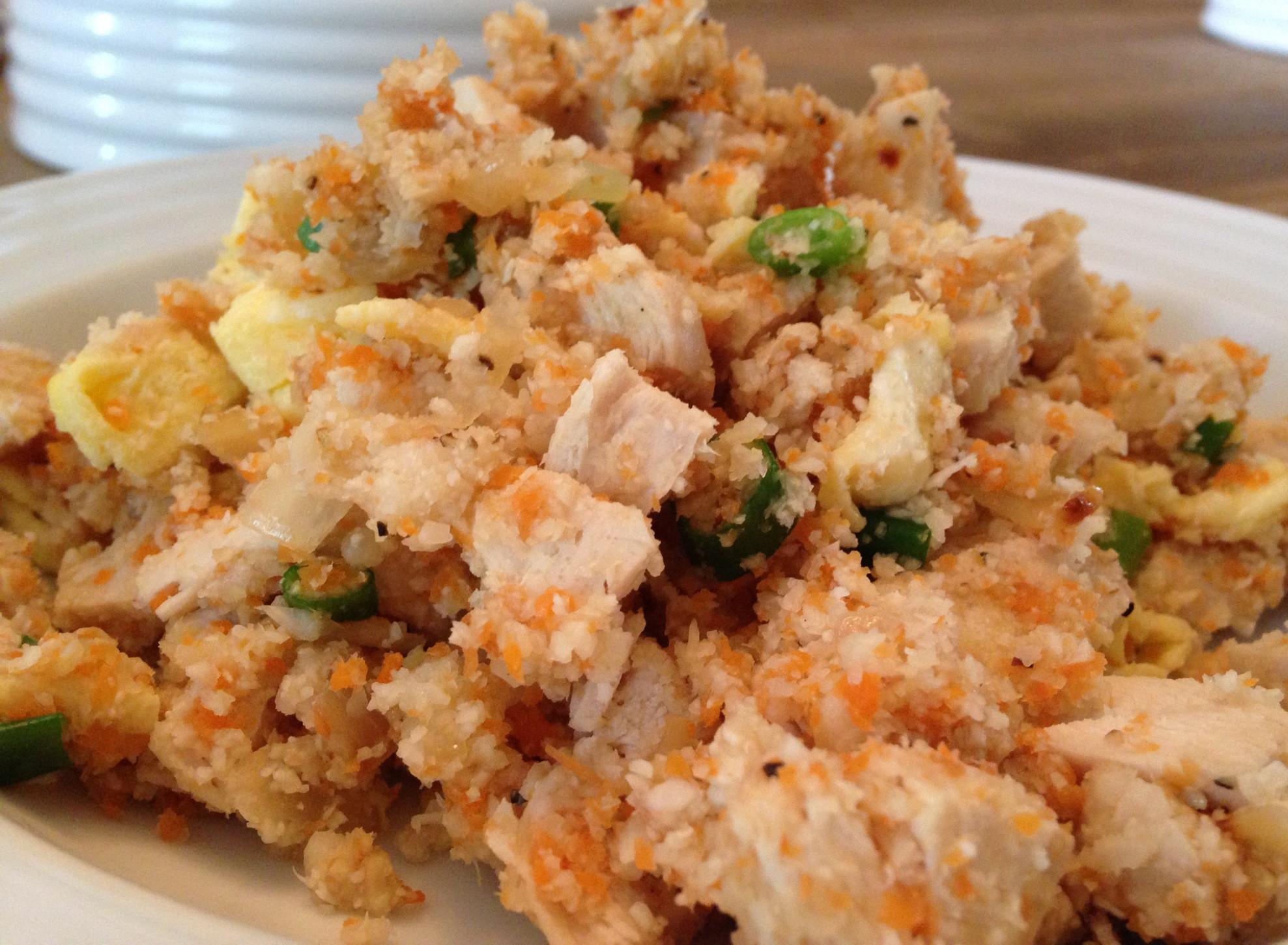 Cauliflower Fried Rice With Chicken  Chicken Fried Cauliflower Rice