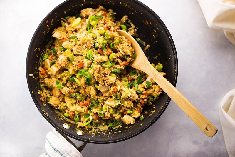 Cauliflower Fried Rice With Chicken  25 Minute Chicken Cauliflower Fried Rice • A Sweet Pea Chef