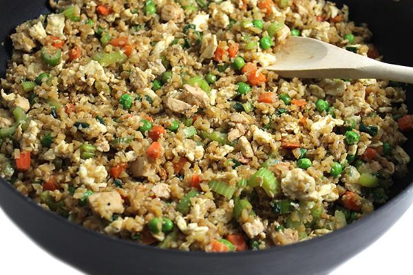 Cauliflower Fried Rice With Chicken  Amazing Skinny Chicken Fried Cauliflower Rice with Weight