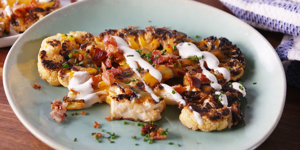 Cauliflower On The Grill  Best Grilled Cauliflower Recipe How to Make Grilled