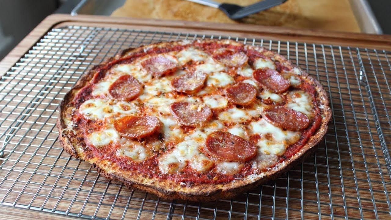 Cauliflower Pizza Crust  Cauliflower Pizza Crust Recipe Cauliflower Pizza Dou
