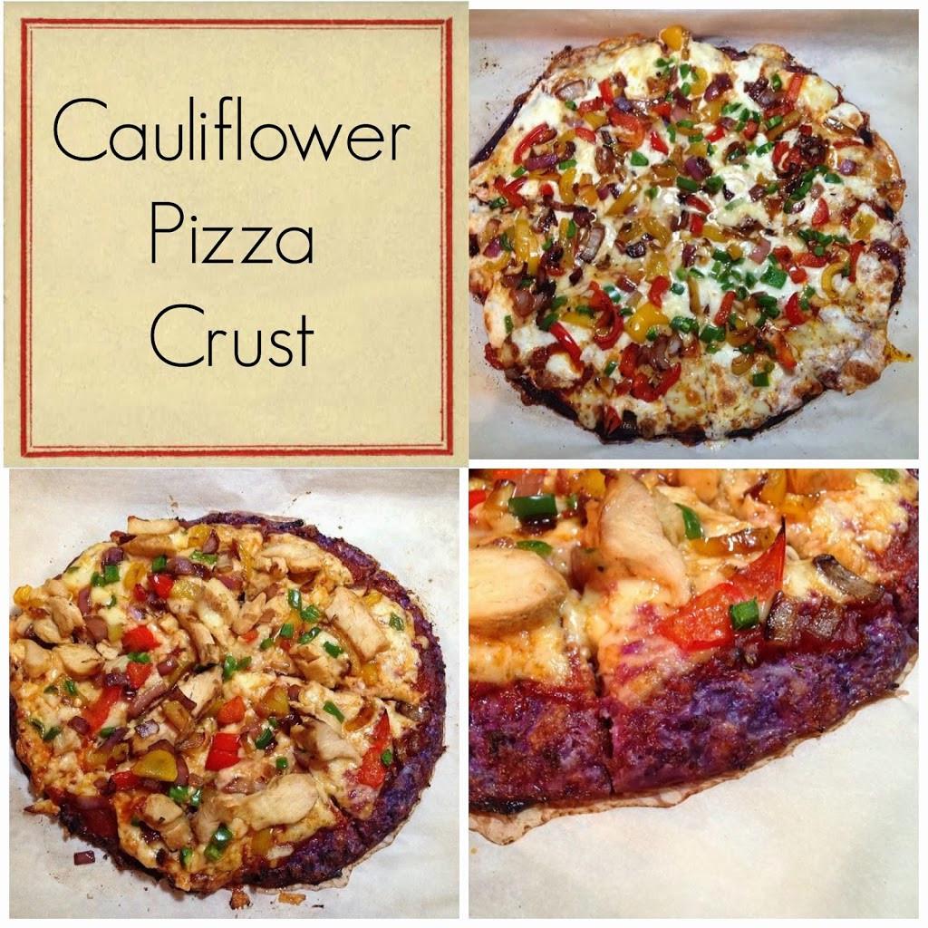 Cauliflower Pizza Crust  Purple Cauliflower Pizza Crust My Eating Clean Journey