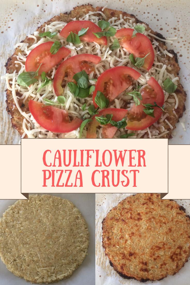 Cauliflower Pizza Crust Frozen  Cauliflower Pizza Crust Recipe Crazy 4 Smiths