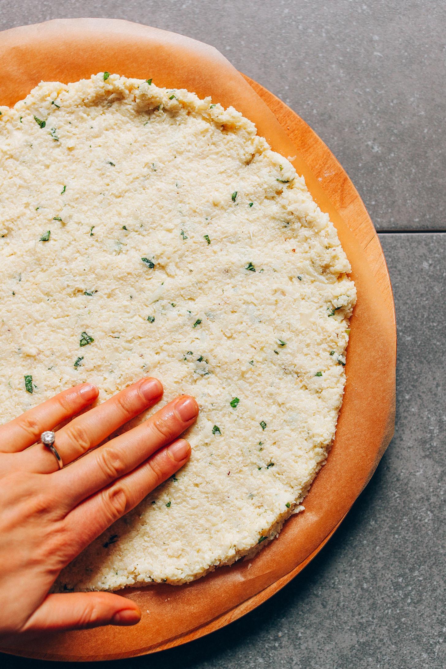 Cauliflower Pizza Crust  Vegan Cauliflower Pizza Crust