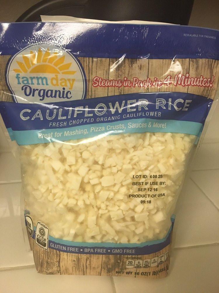 Cauliflower Rice Costco  8 29 16 mon Costco currently for Organic Cauliflower