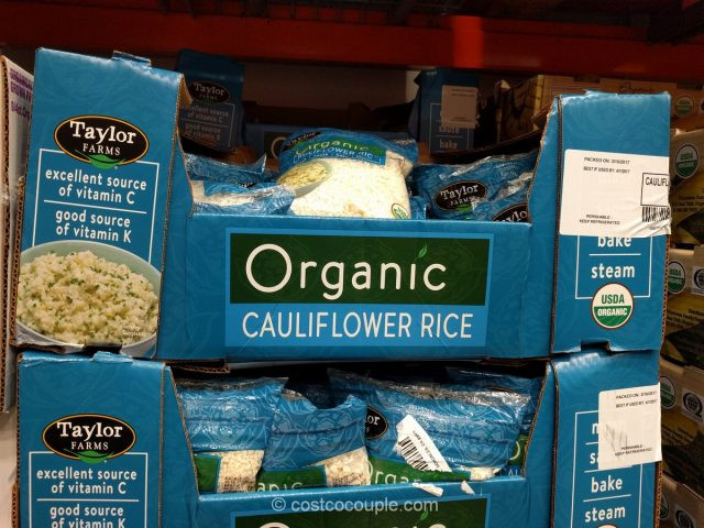 Cauliflower Rice Costco  Taylor Farms Organic Cauliflower Rice