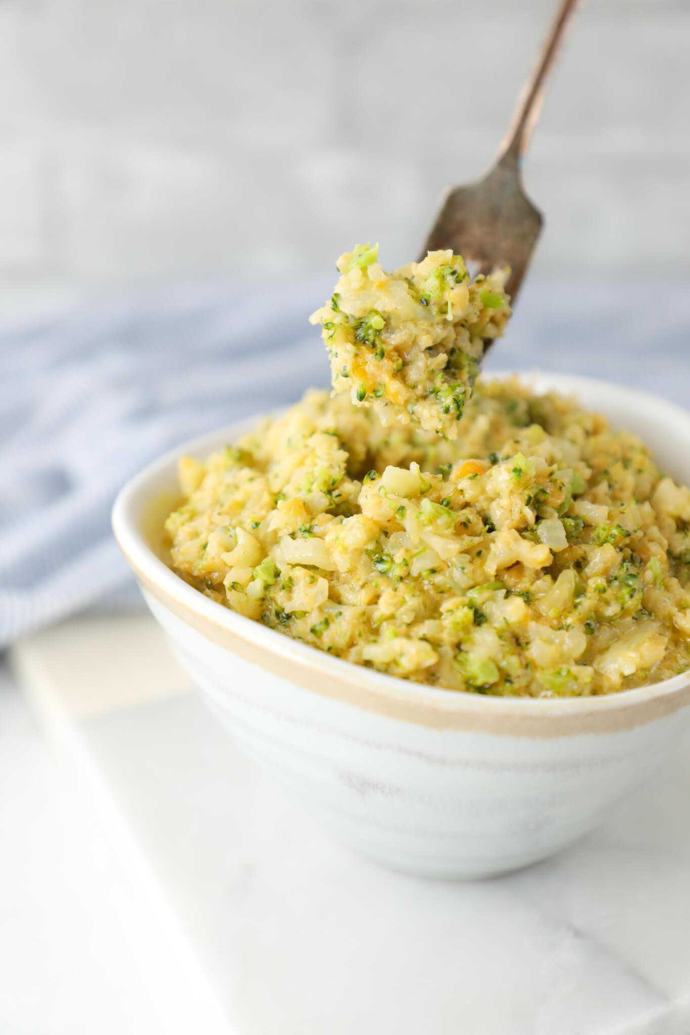 Cauliflower Rice Keto  Keto Cheesy Broccoli & Cauliflower Rice