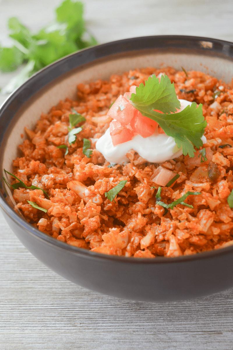 Cauliflower Rice Keto  Keto Mexican Cauliflower Rice Hey Keto Mama