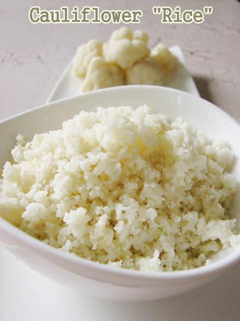 "Cauliflower Rice Microwave  Cook book of trial and error Cauliflower ""Rice"""