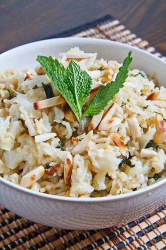 Cauliflower Rice Pilaf  Curried Cauliflower Rice on Closet Cooking