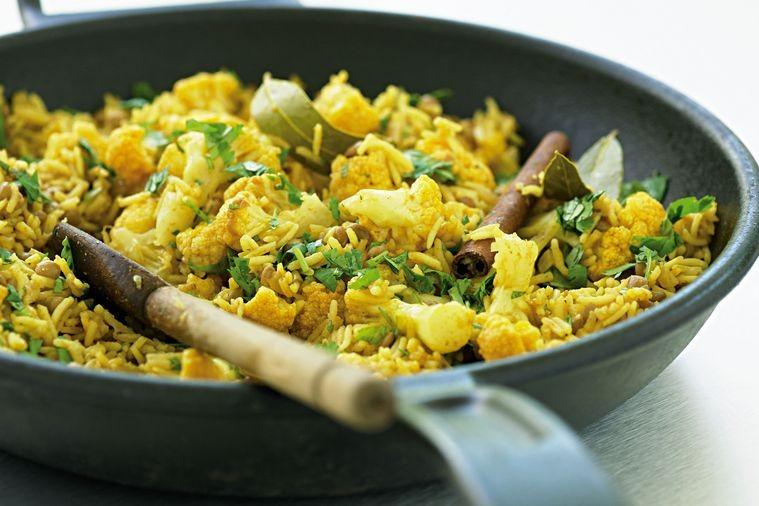 Cauliflower Rice Pilaf  Lentil and cauliflower pilaf low fat Recipes
